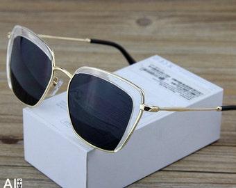 Gold Handled Reflector Sunglasses
