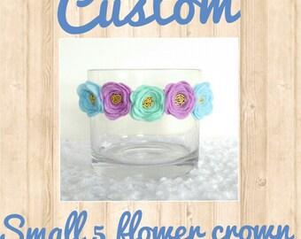 Custom Small 5 flower Crown