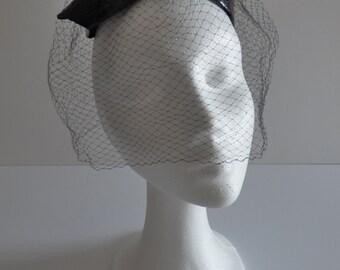 Vintage black headdress. 1960s