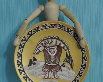 Ceramic plate with Northern  Siberia ornament