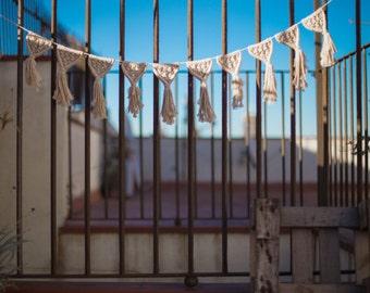 Macrame Garland · Bunting · Banner · Pure Cotton · Handmade