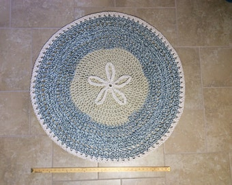 Sand Dollar On Ocean Floor Rug and Wall Hanging