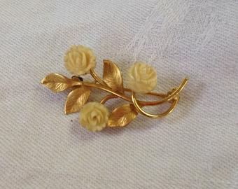 Karen Lynne Brooch, Charles Rothman Company Brooch, Vintage 14k Gold Brooch, 14k Gold, Free Shipping