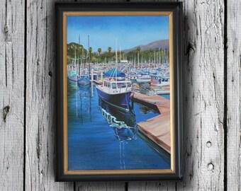 Coastal Decor, Nautical Decor, Nautical Wall Art, Nautical Art, Coastal Wall Art, Boat Paintings, Coastal Art, Canvas Art, wall art