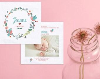 Invitations & stationery birth wreaths
