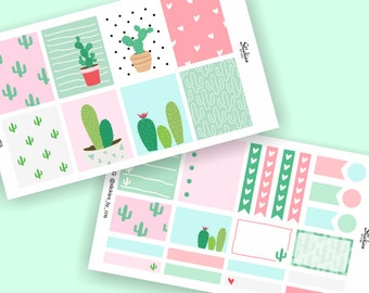 Cactus Planner Sticker Kit / Weekly Kit / Sticker Set for use with Erin Condren LifePlanner™ / Succulent Stickers   KB3