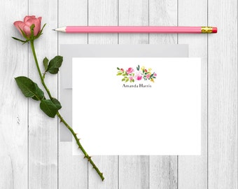 Personalized Stationery, Personalized Stationary, Personalized Note Cards, Thank You Note Cards, Stationery Set, Custom Stationery, FL01