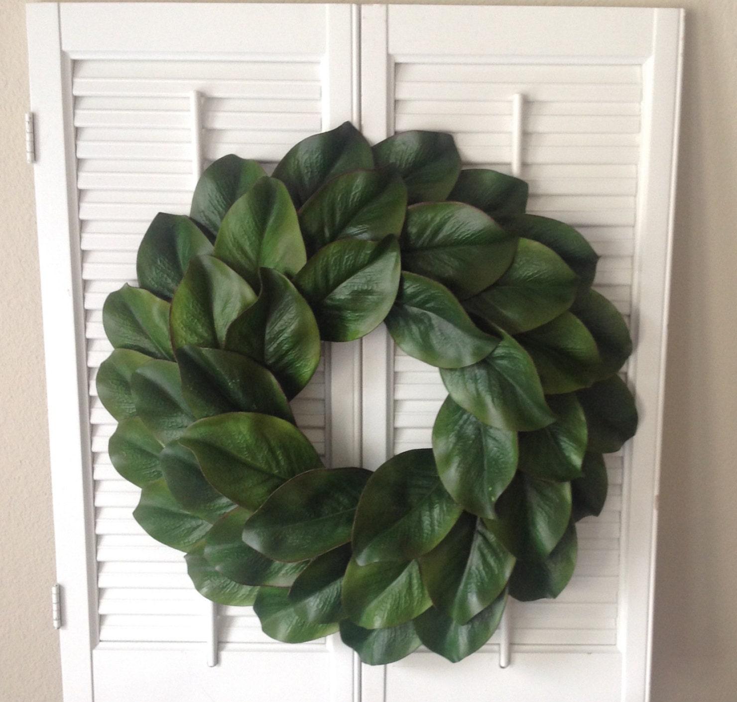 18 magnolia wreath magnolia wreath fixer upper style. Black Bedroom Furniture Sets. Home Design Ideas