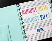 Student Planner- Intentional Life Monthly Planner: August 2016 to August 2017 -Digital Download-
