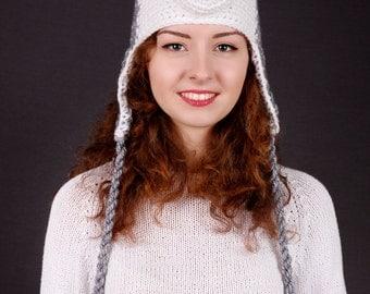 Husky Hat, Winter Hat, Adult Hat, Children Hat, Autumn Hat, Spring Hat, Grey Hat