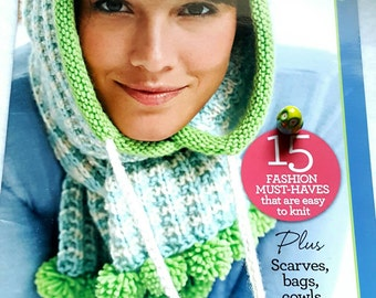 2011 GoCrafty Knit Accessories Knitting Pattern Book Includes Scarves Hats Bags and More!
