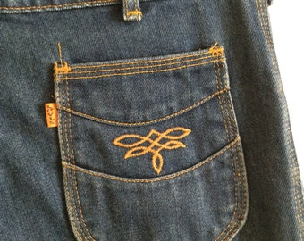 FREE SHIPPING Levis Jeans Orange Tab Vintage 1970s High Waisted Jeans