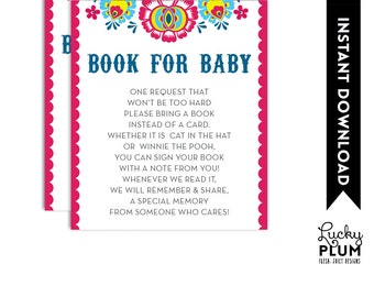 Fiesta Book Card / Fiesta Book for Baby / Tribal Flower Book Card / Mexican Fiesta Book Card / Papel Picado Book Card / Folk Book Card