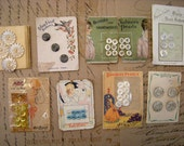 Antique Lot of Button Cards 1910's to 1930's Chalmers Pearls Crystal Hobnail Duchess Pearl Edwardian
