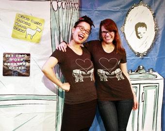 Star Wars Shirt for Women: Heather Black Star Wars Shirt, Star Wars Valentine, AT-AT Love Scoop Neck, Star Wars Gift, Imperial Walker