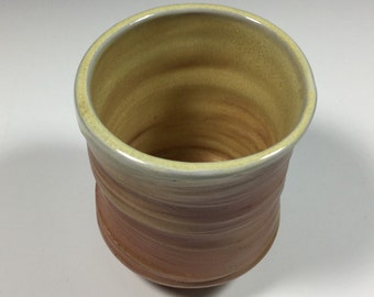 Brown Cup - Ceramic Barware - Old Fashioned Cup - Lowball - Rocks Cup - Wine Cup - Wood Fired - Handmade Pottery