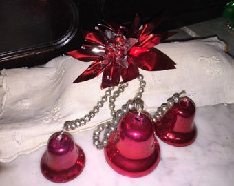 Japan Red Bell & Poinsettia Christmas Decoration