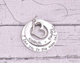 personalized jewelry, quote jewelry, gifts for mom necklace, inspirational gifts, sterling silver necklace, Mothers Day gift for her