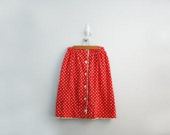 vintage 60s Valentines Day Hearts Novelty Print Scalloped Hem Ladies Skirt // Ceeb of Miami Sz M