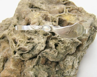 Magic Maple Seed Cuff Bracelet with moonstone, cuff bracelet, sterling silver bracelet, gemstone cuff bracelet