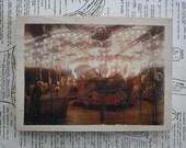 Night Carousel - 5 x 7 Mixed Media Miniature