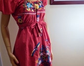 mexican dress, embroidered dress, off the shoulder dress, peasant dress