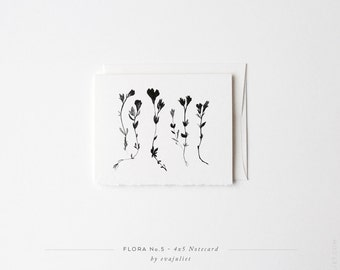 "Flora No.5 | Botanical Note card | Greeting Card 4""x5"" or 5""X7"" 