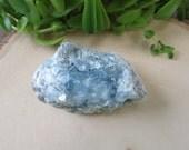 Blue Celestite Crystal Geode - Large Raw Crystal - Altar Stone - Healing Crystal - Minerals - Sky Blue Stone - Bohemian Hippie Decor