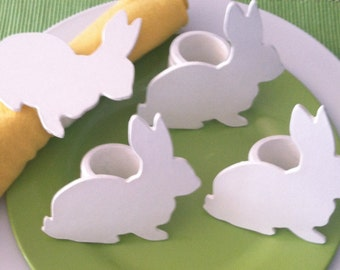 Easter Bunny Napkin Rings - Set of 4 - Easter Table Decoration