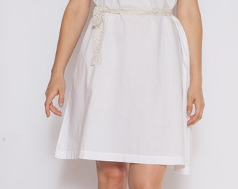 White Victorian Cotton Lace Dress