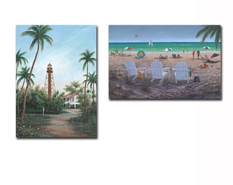 Sanibel Beach Fine Art Prints - Two Pictures included Digital Art Work Print on Wood/ Gallery Wrap Canvas/ Acrylic Living Room Decors pa015