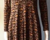 Vintage Boho Floral  1970s Diane Von Furstenberg Dress