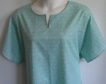 S & 2X  - Post Surgery Nightgown - Shoulder / Breast Cancer - Mastectomy / Hospital / Adaptive Clothing / Rehab / Breastfeeding -Style: Erin