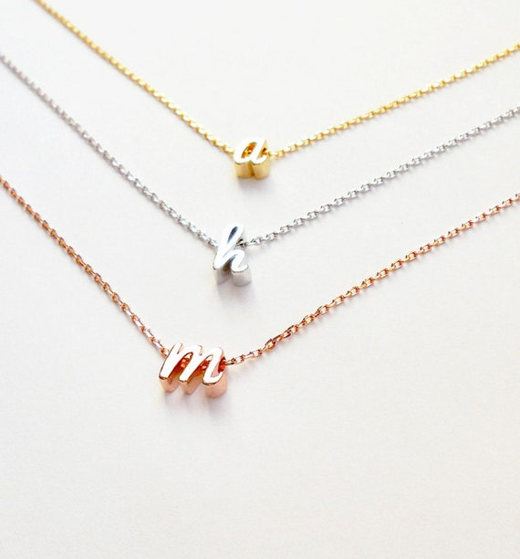 Darling dainty initial necklaces