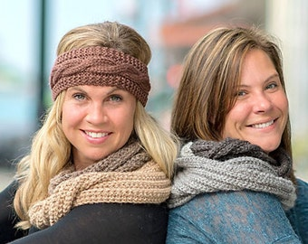 Chunky Knit Infinity Scarf, Womens Infinity Scarf, Chunky Knit Cowl
