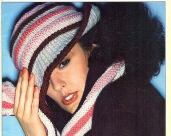 Spinnerin SPINNOVATIONS 16 All Hats, Scarfs, Mittens for Men, Women, Children 1970s Knit and Crochet