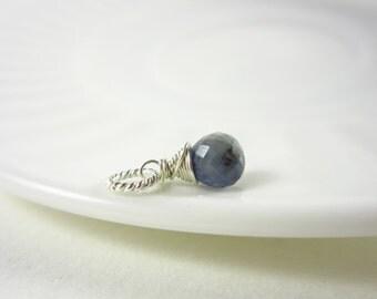 Md Blue Sapphire Pendant - Umba Sapphire Birthstone Jewelry - Zodiac Jewelry Virgo - September Birthstone Necklace Charms - Add on Charms
