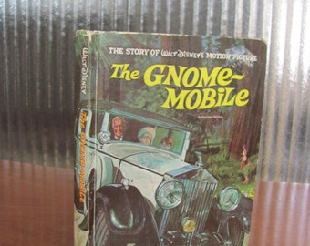 "Vintage 60's ""The Gnome-Mobile"" The Story of Walt Disney's Motion Picture - 60's Walt Disney Productions Children's Book - 1967"