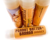 PEANUT BUTTER & BANANA Sandwich Sammich - vegan natural candelilla lip tube sandwich