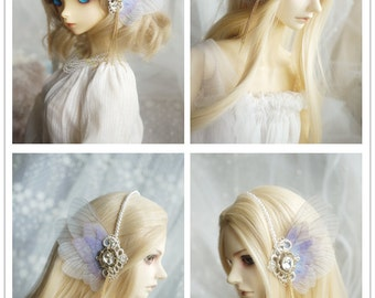 Elf Doll Accessory Lace Butterfly Fairy Hairband for BJD 1/3 SD Dolls
