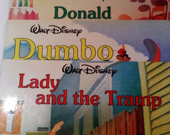 Vintage Disney Board Books, Set of 3