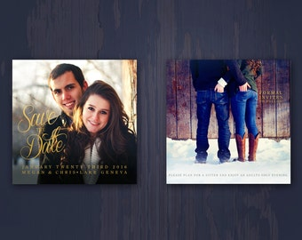 Save The Date Wedding Announcement with Photo Custom Design Made to Order