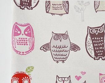 SALE Fabric, Bird Fabric, Owl Fabric, Cute Fabric, Kids Fabric