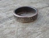 state quarter ring US coins Coin ring USA Coin Jewelry Gifts for himPurity ring Band Deployment gift silver ring men silver rings pinky ring