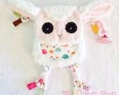 Mini Lamb Baby Blanket Teething Toy Lovey