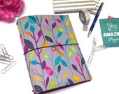 Fauxdori. Traveler Notebook Cover. Fabric Fauxdori Cover. Grey A5 Notebook Cover. Cahier. Planner Cover. Vegan Fauxdori. Faux Dori Cover