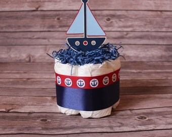 Mini Diaper Cakes, Owl Diaper Cake, Western Diaper Cake, Nautical Diaper Cake, Princess Diaper Cake, Shower Centerpiece, Beach Diaper Cake