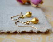 Gold Teardrop Earrings, Tiny Drop Earrings, Gold Jewellery Gold Minimalist Earrings, Delicate Gold Earrings, Gift for Wife, Gold Anniversary