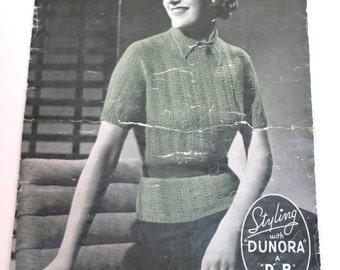 Vintage 1930s Knitting 'Patons & Baldwins' patterns - pdf book