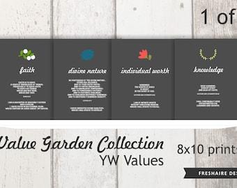 1 of 2 | 8X10 PRINTS - YW Values